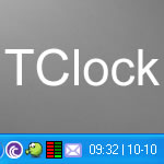 Hora e Data no TClock